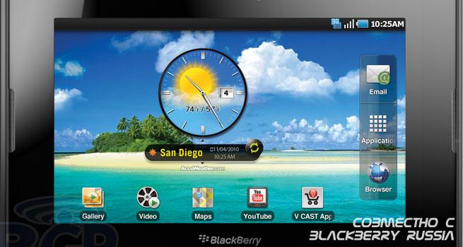 Приложения от Google Android на BlackBerry PlayBook