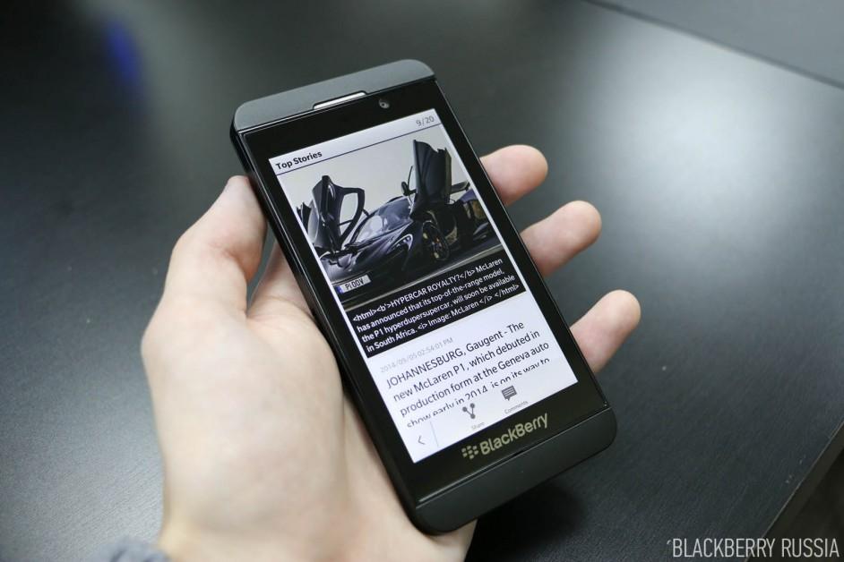 Фото-обзор BlackBerry Z10